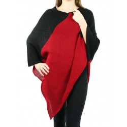 Knitted acrylic wool poncho
