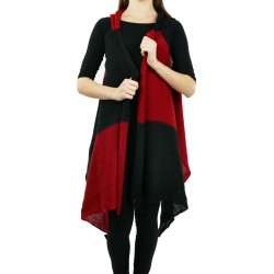 A warm women's wool-acrylic vest