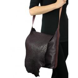 Hand-sewn shoulder bag