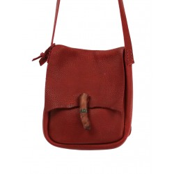 Leather postman handbag, hand-sewn, available in the Naturally Podlasek store