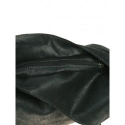 Black leather handbag over the shoulder