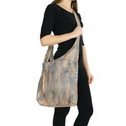Colored large leather crossbody handbag NP