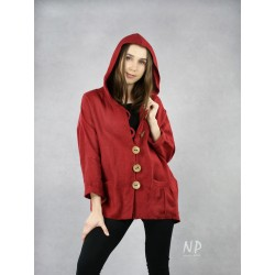 Linen jacket with a hood NP