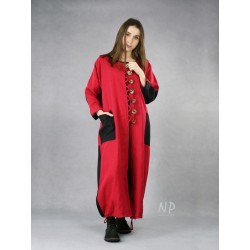 Women's red linen coat NP