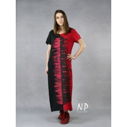 Simple, hand-painted linen dress