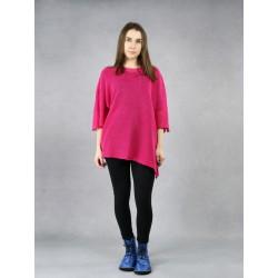 Women's pink linen blouse.