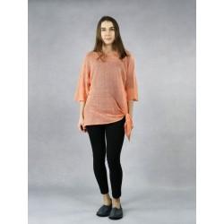 Knitted linen blouse.