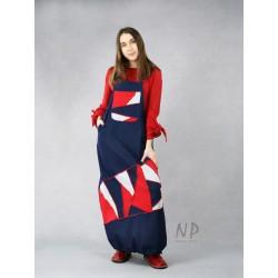 Long denim dungaree dress