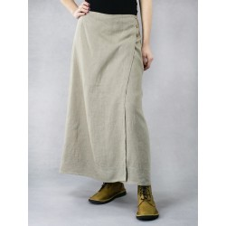 Long linen wrap skirt