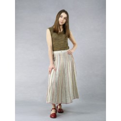 Flared linen skirt made in the form of a sole
