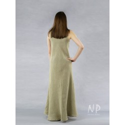 Hand-painted linen dress, sewn from the bias.