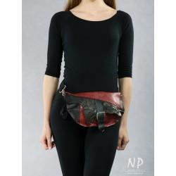 Handmade women's sachet made of natural leather