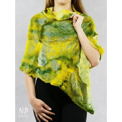 Women's wet felted poncho.