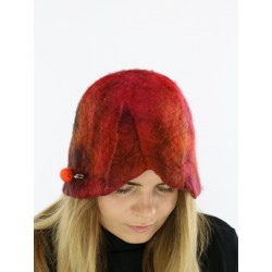 Hat felted by hand