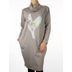 Cotton dress with the application