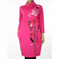 Sukienka bawełniana z aplikacją