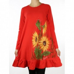 Knit dress, hand-painted NP