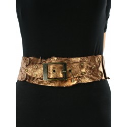Women's vintage golden leather belt.