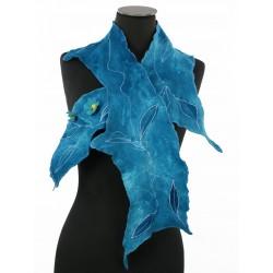 Felted scarf silk&wool
