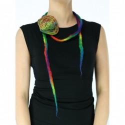 Colorful felt cord necklace