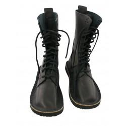 Czarne wysokie buty skórzane