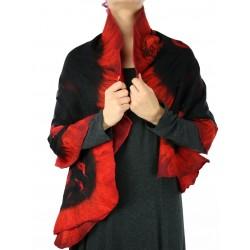 Szal filcowany silk&wool NP