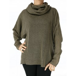 Linen blouse turtleneck NP