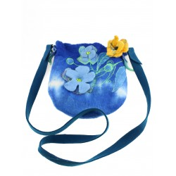 Small wet-felted wool bag