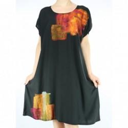 Viscose dress, painted NP