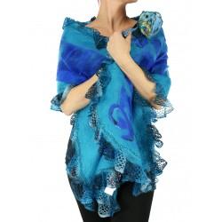 Felted shawl