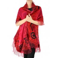 Felted scarf silk&wool NP