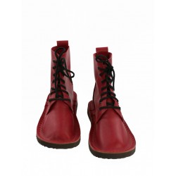 Red handmade shoes