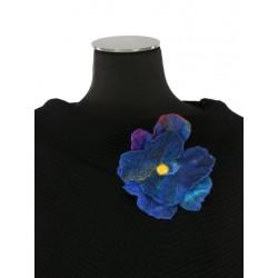 Felt flower brooch.