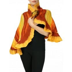 Felted silk scarf