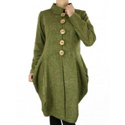 płaszcz wełniany, tweed