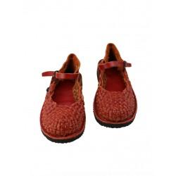 Red Trek strap sandals