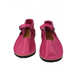 Pink Tex leather sandals