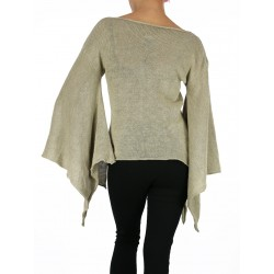 Reversible vest, silk & wool