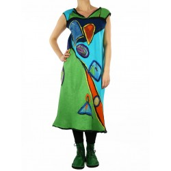 Felted silk dress Pablo Picasso