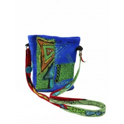 Blue felt bag