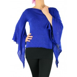 "Blue linen blouse ""bat"""