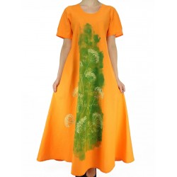 Orange cotton dress
