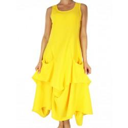 Yellow cotton dress