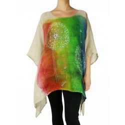 Hand-painted linen blouse Naturally Podlasek