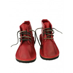 Red leather shoes