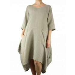 Asymetryczna lniana sukienka
