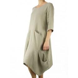 Asymmetrical linen dress