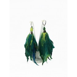 Long felt earrings