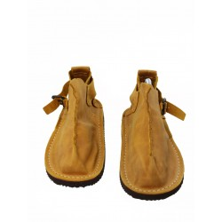 Handmade Vagabond shoes in mustard color.