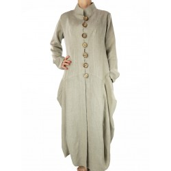 Original long linen coat